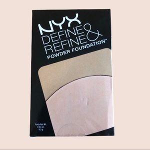 4/$20 NYX Define & Refine Powder Foundation Light